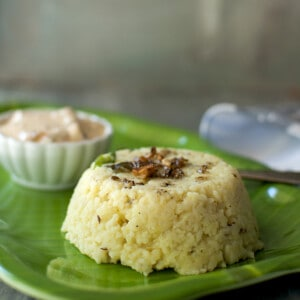 Green plate with khichdi