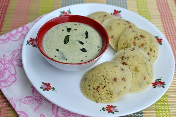 Rava Idlis using MTR Instant Rava Idli Mix