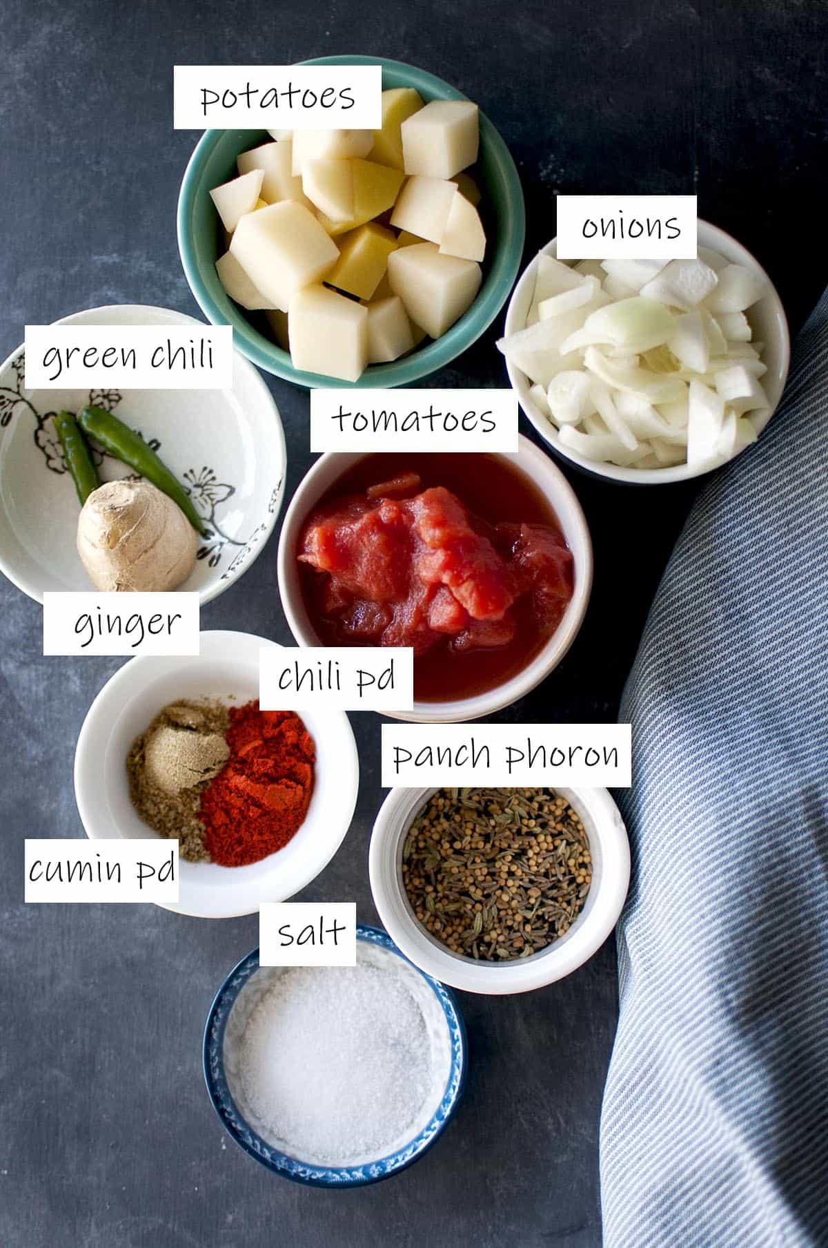 Ingredients to make gravy - details in recipe card
