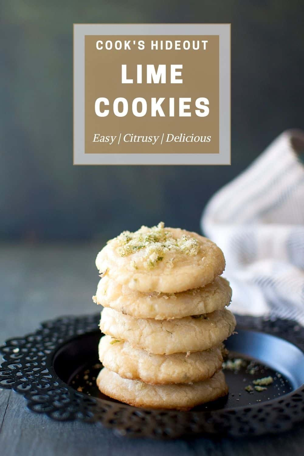 Stack of Lime cookies
