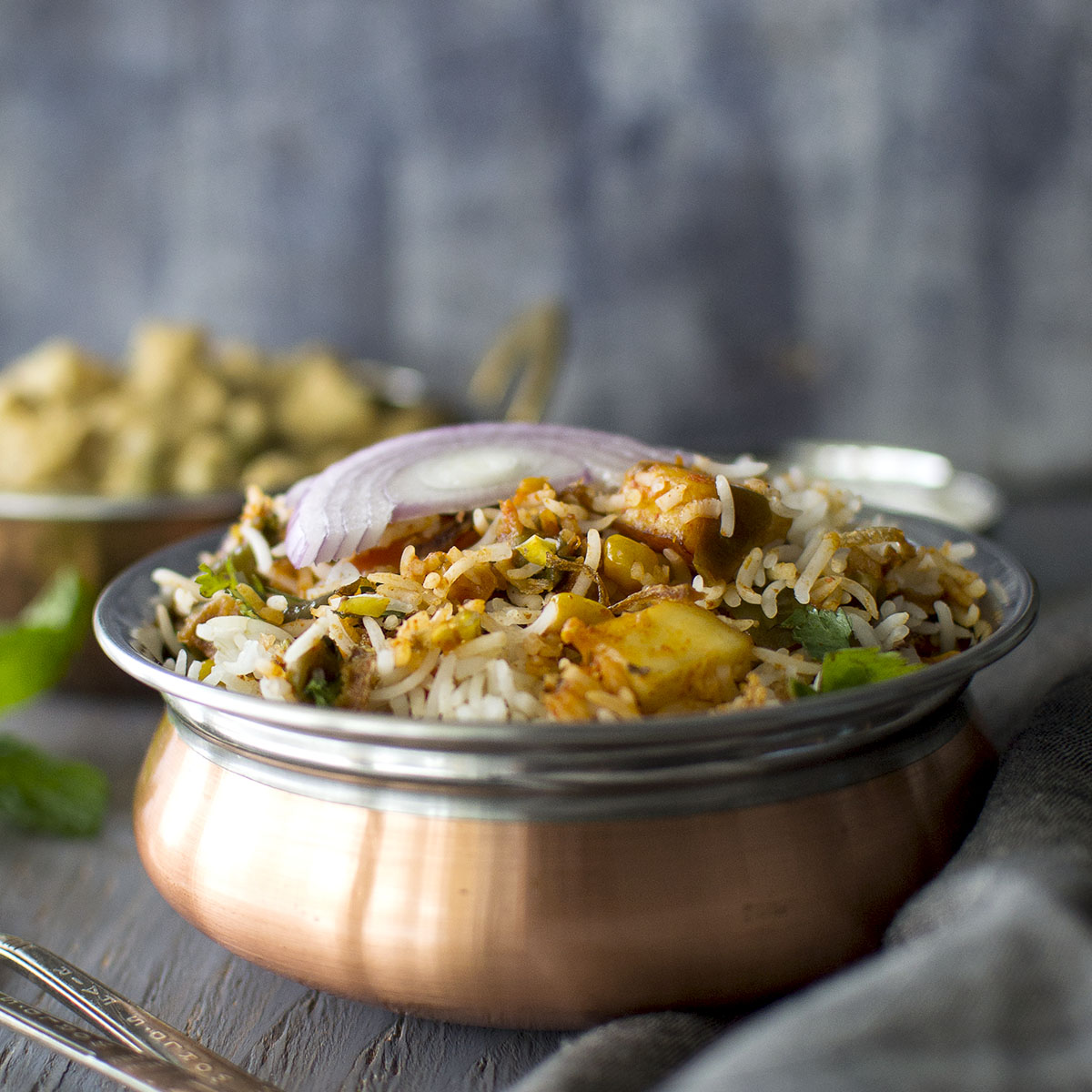 Vegetable Dum Biryani In Slow Cooker Cookshideout