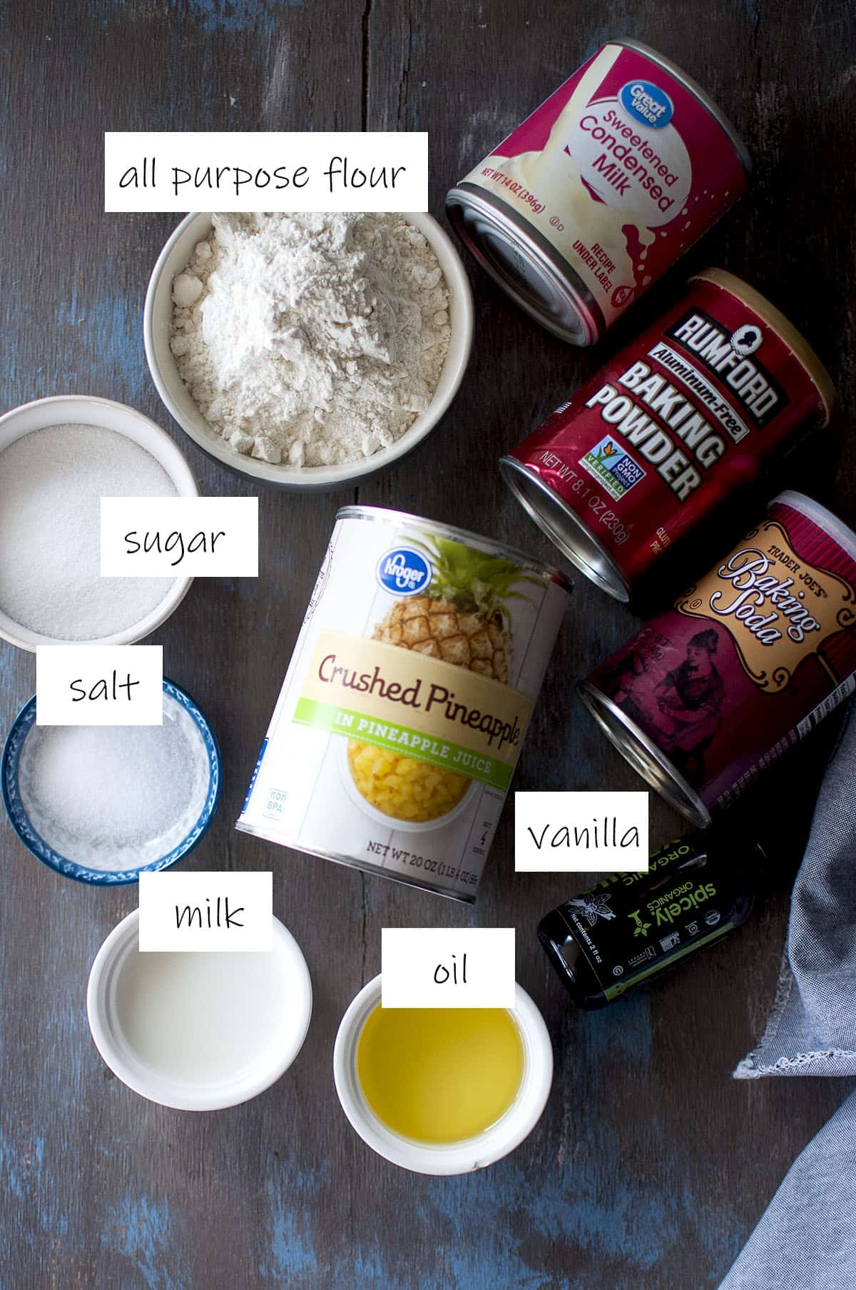 Ingredients to make the cake - details in recipe card