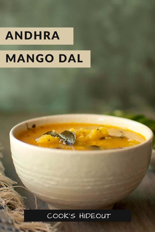 white bowl with mamidikaya pappu