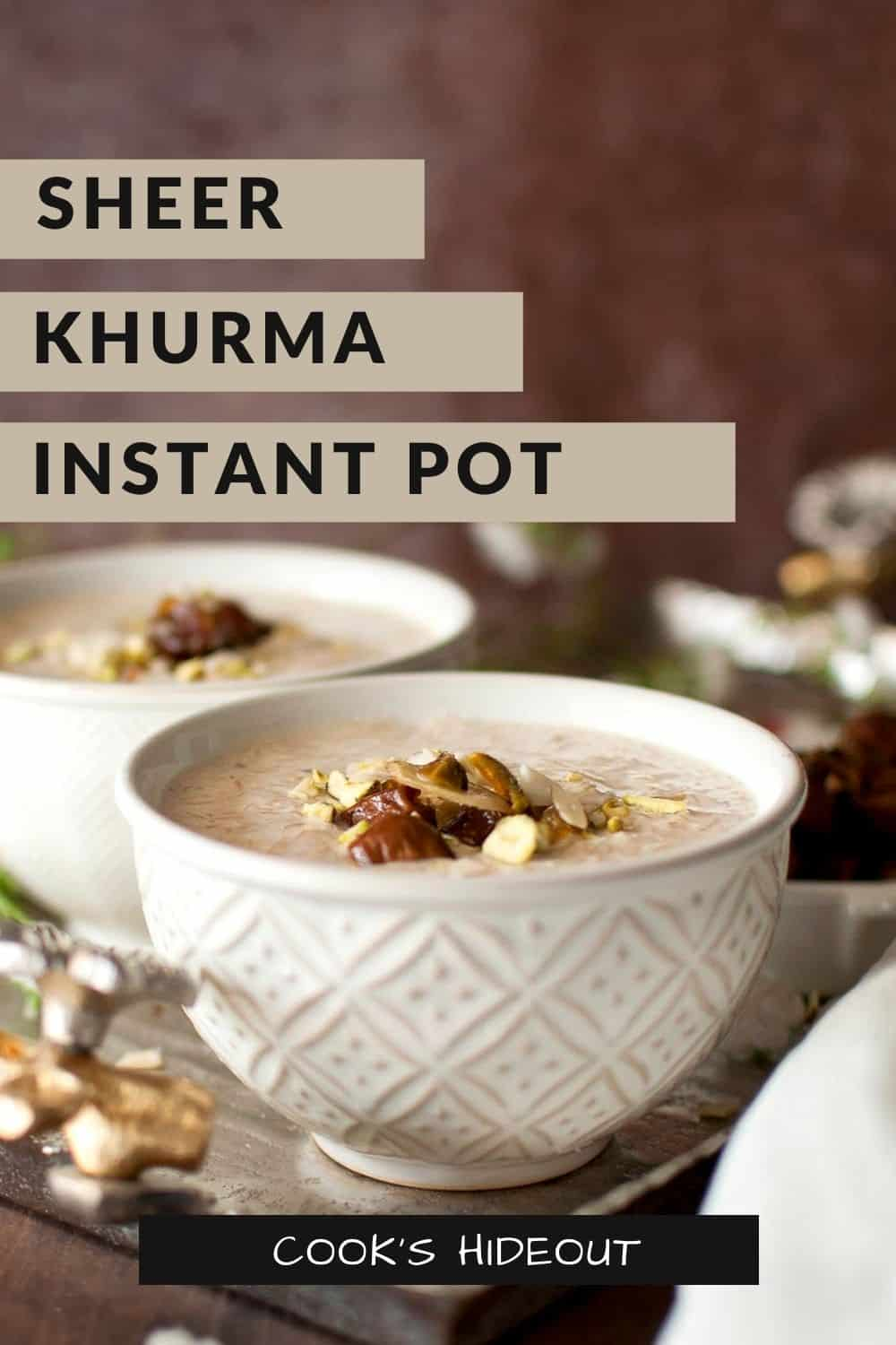 Instant Pot sheer khurma in a cream color bowl