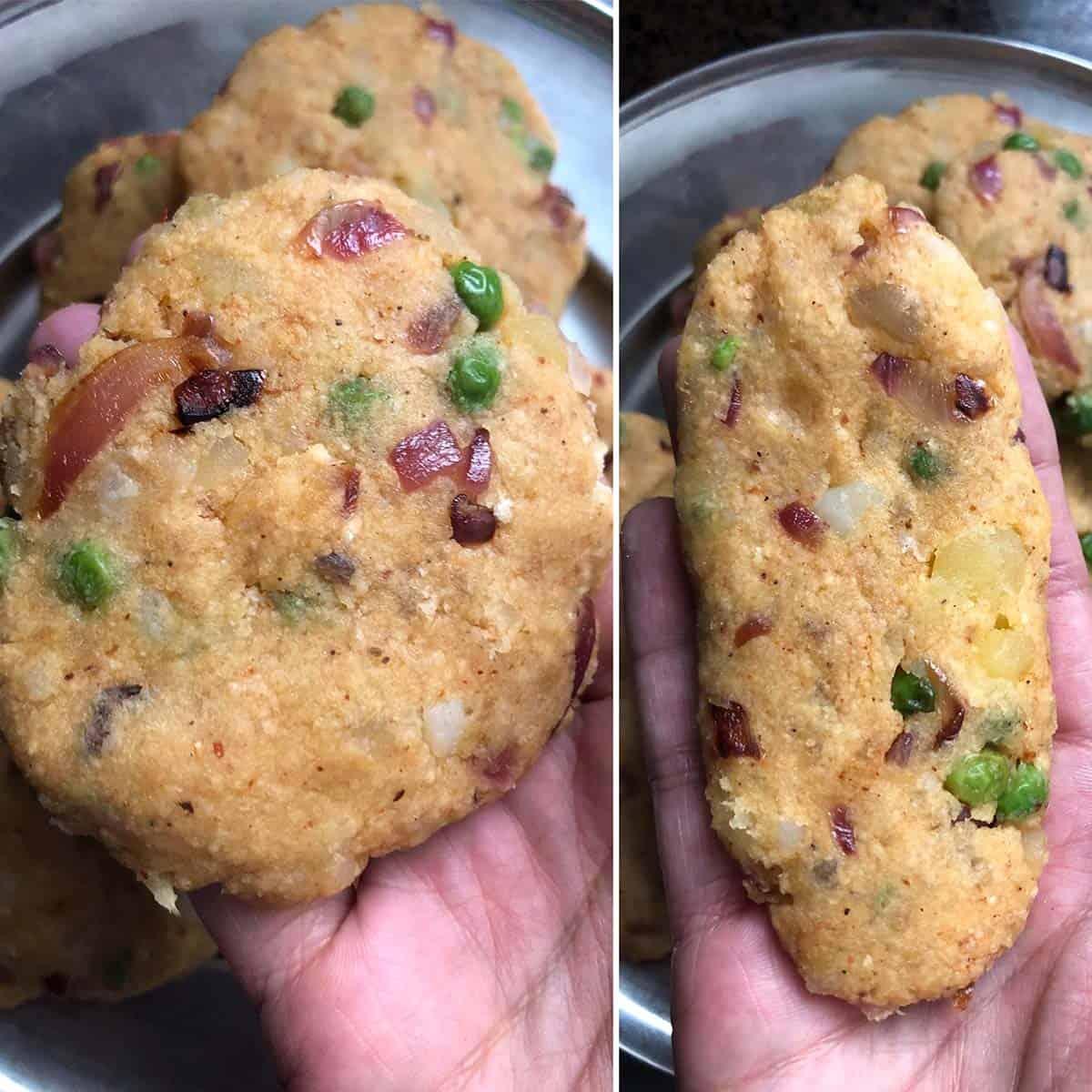 Shaping potato patties