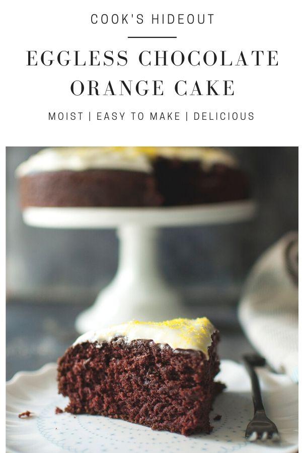 Eggless chocolate orange cake