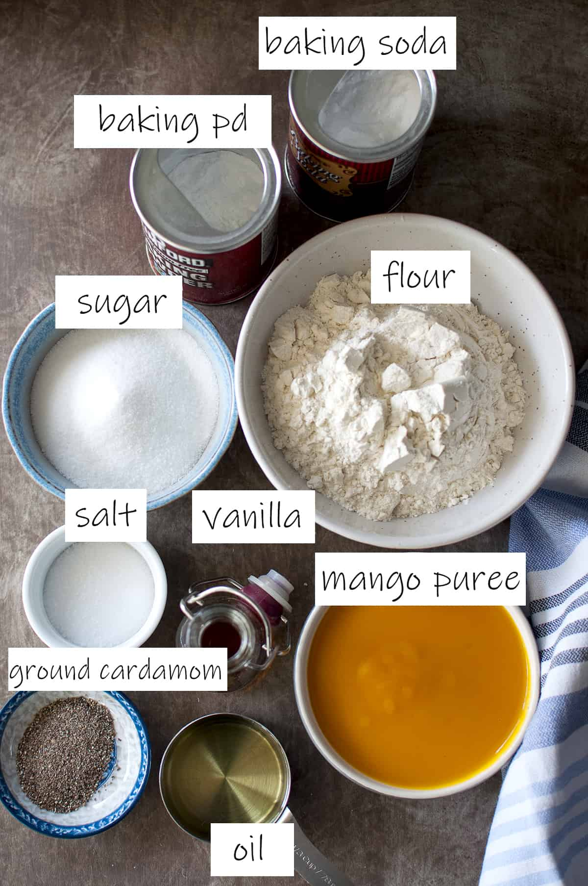 Ingredients needed for the cake - details in recipe card