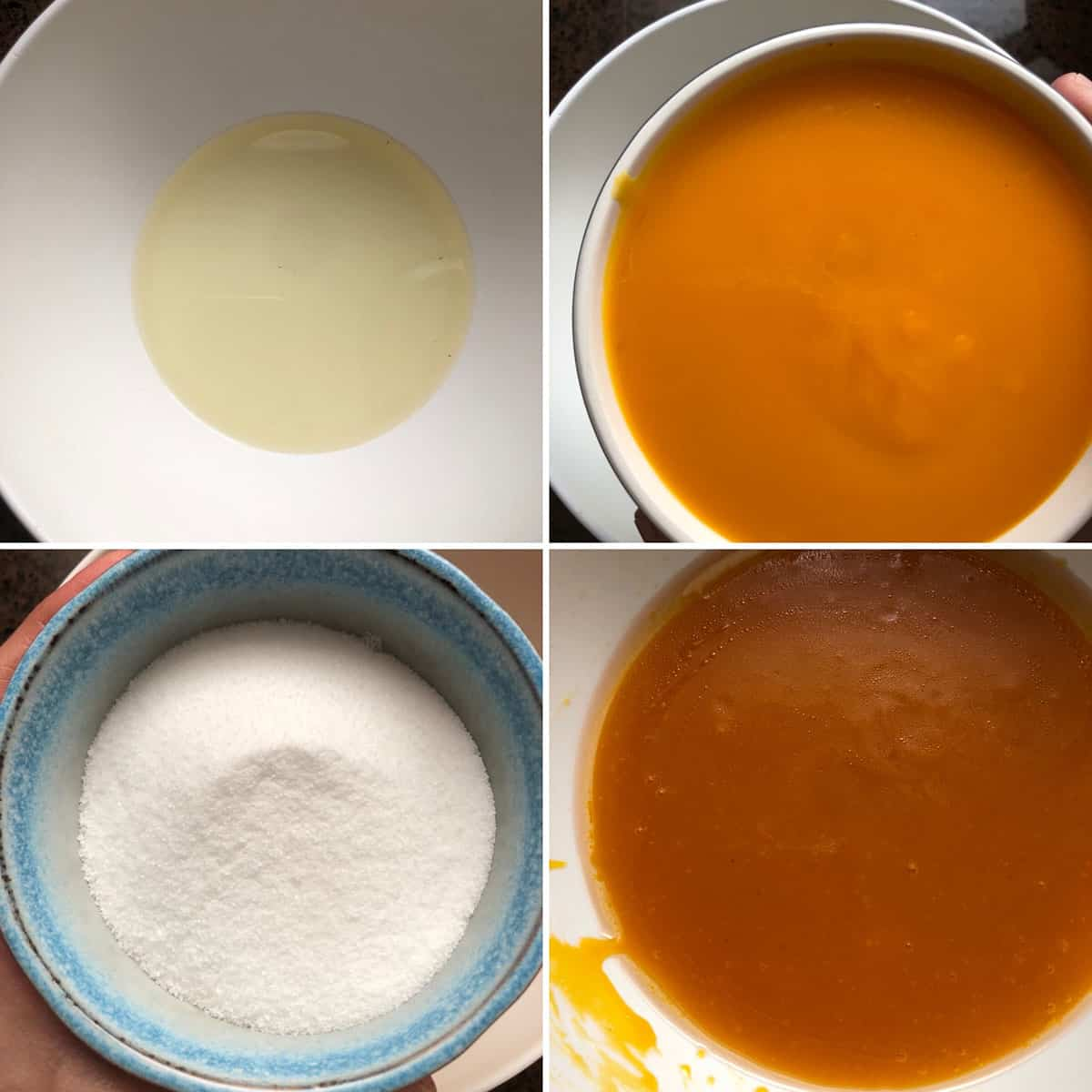Wet Ingredients being added into a large bowl