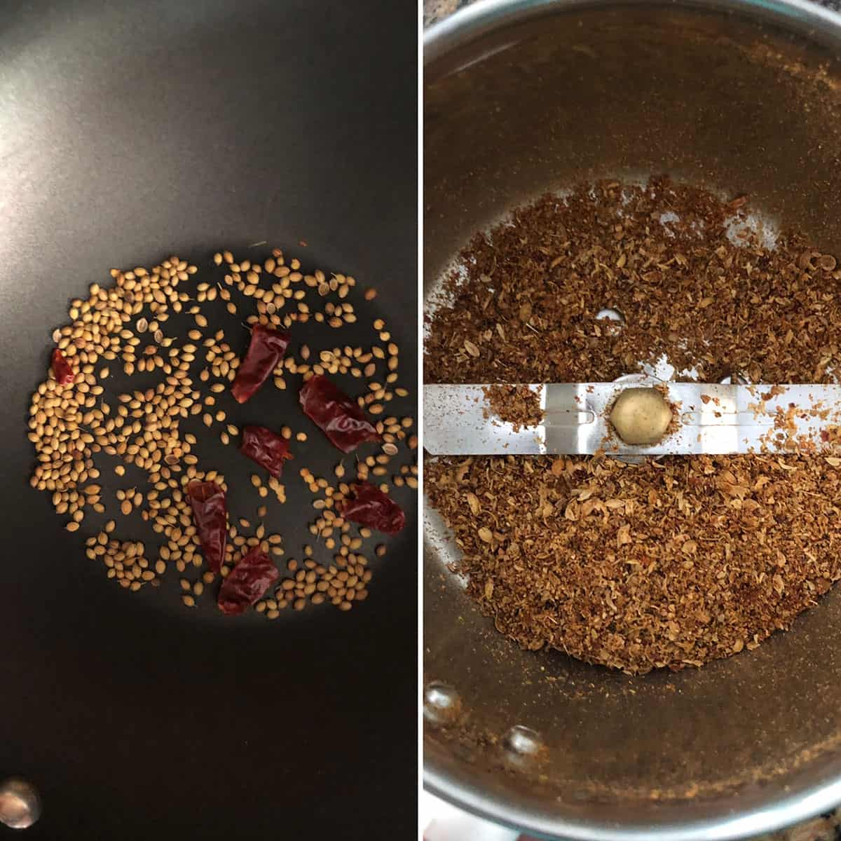 Toasted spices ground to a coarse powder