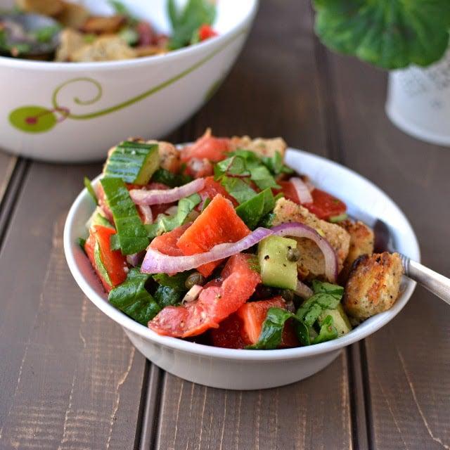 Greek Panzanella Bread Salad Recipe Cookshideout