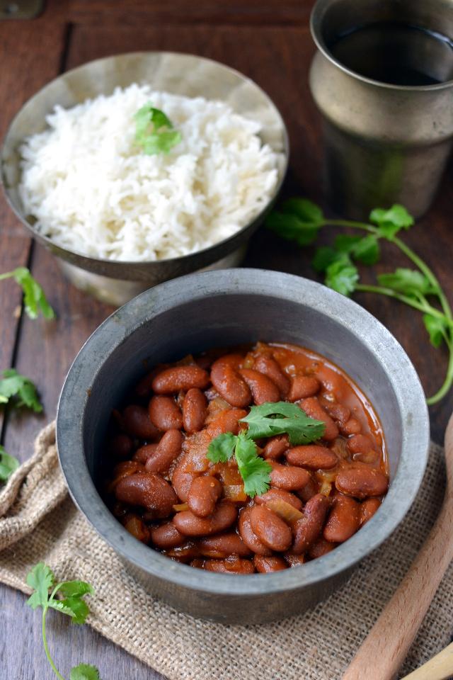 Bowl with Rajma chawal