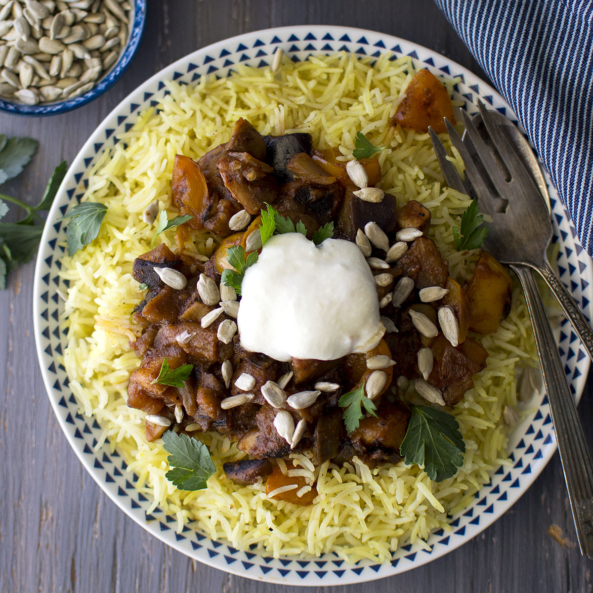 Torrente tallarines a lo largo  Jordanian Rice Pilaf Recipe | Vegetarian Mansaf | cookshideout