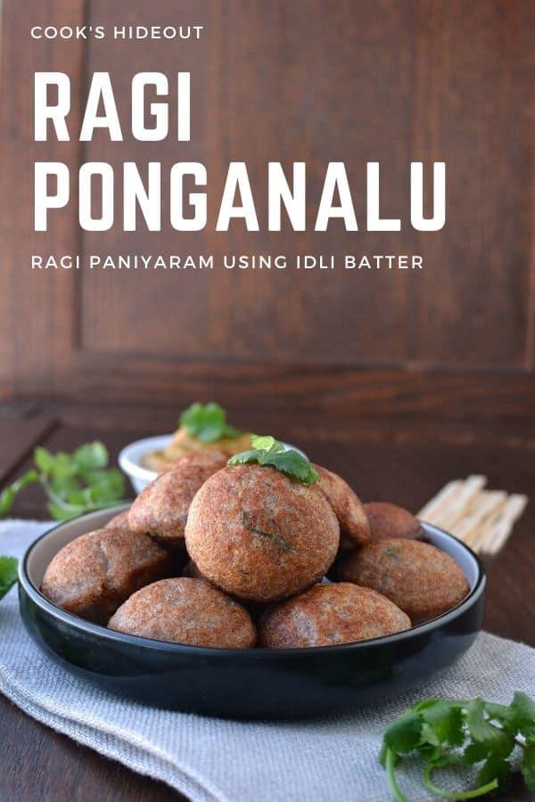 Black plate with Paniyaram