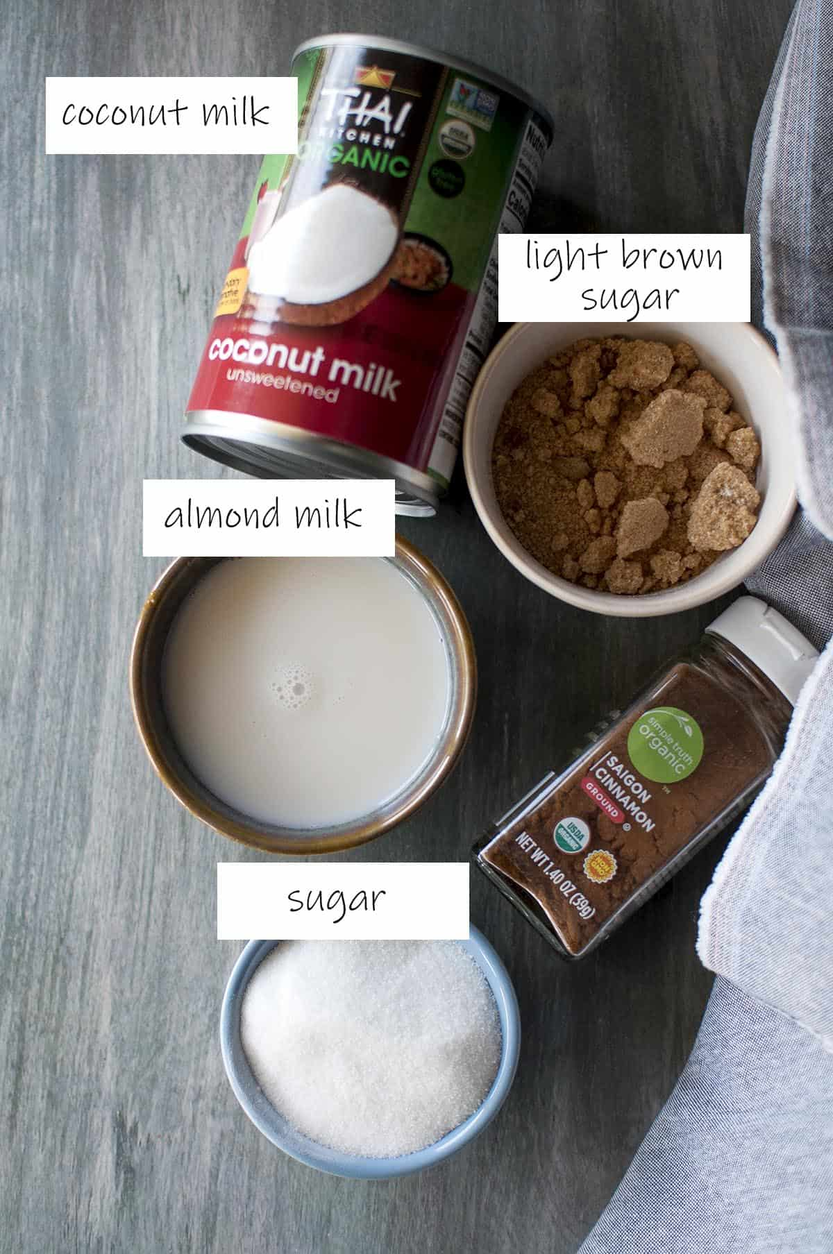 Ingredients needed for the soaking liquid - details in recipe card
