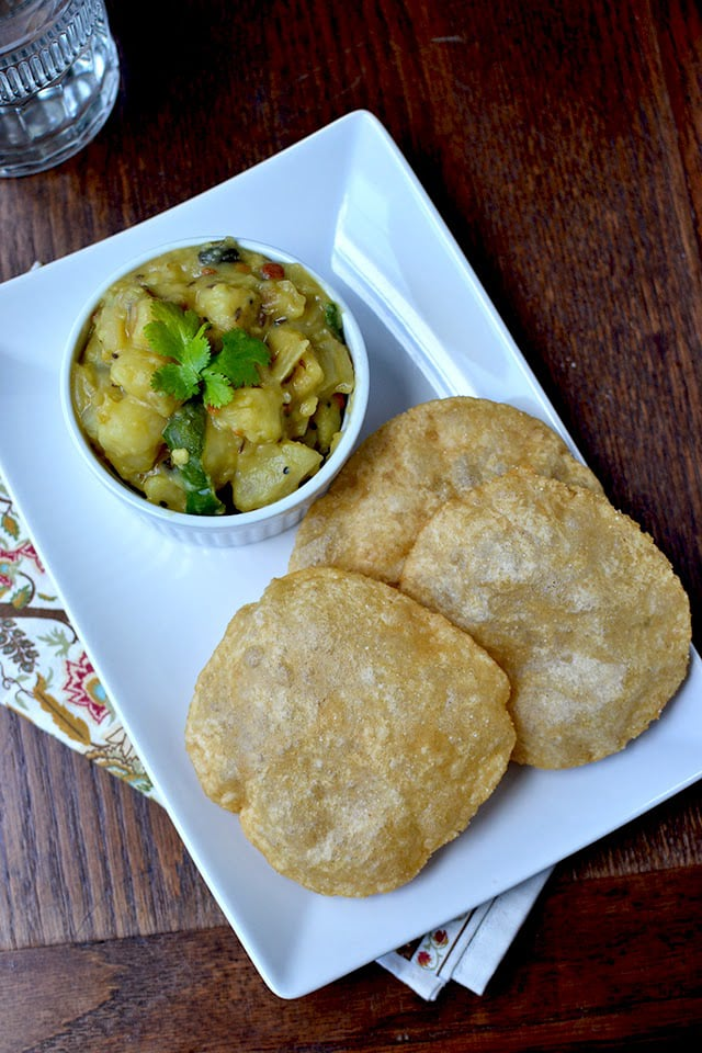 Poori with Aloo subji