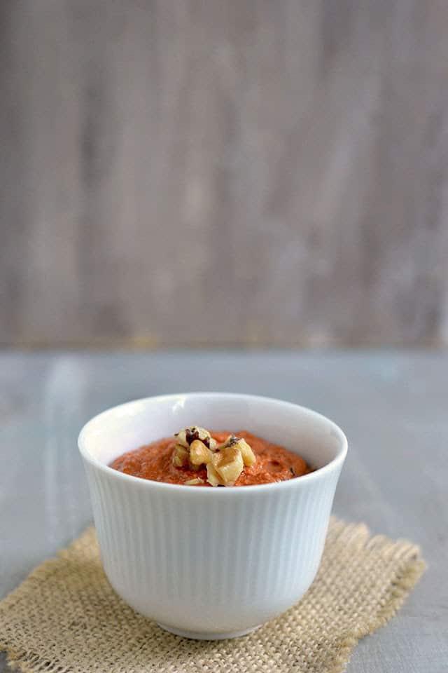 Muhammara (Red Pepper Walnut Spread) Recipe | cookshideout