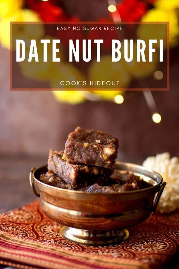 Date Nut Burfi
