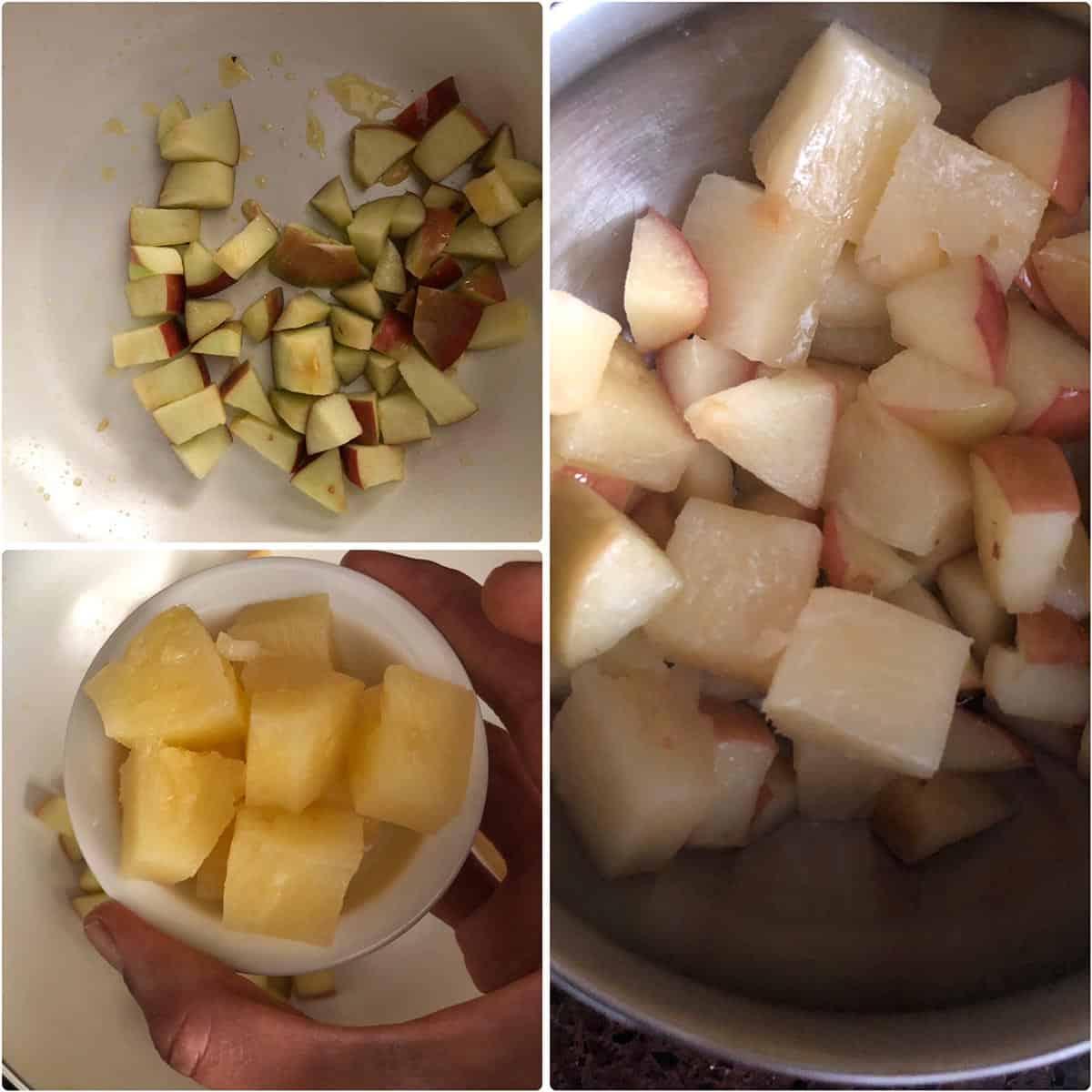 Sautéed apple and pineapple