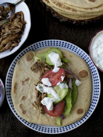 Vegetarian Gyros with Jackfruit Recipe