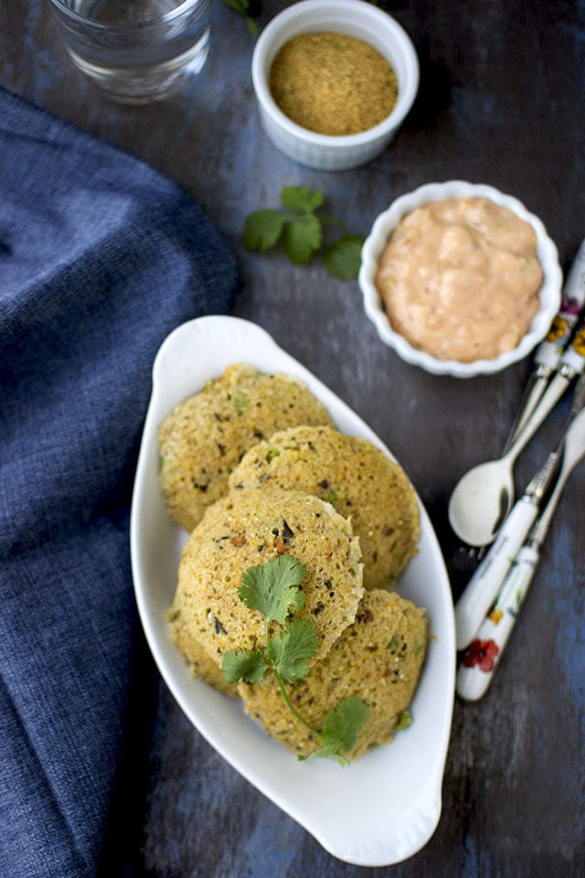 Instant Quinoa and Oats Idli
