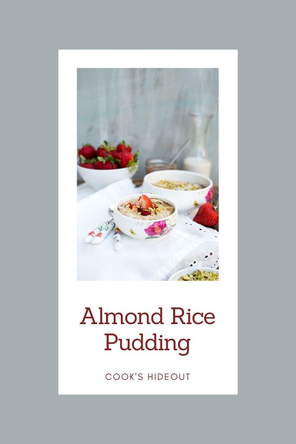 Pin image for Almond Rice Pudding