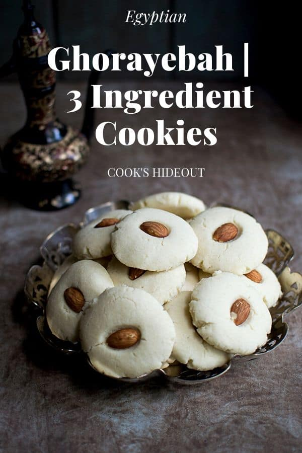 Plate of cookies made with 3 ingredients