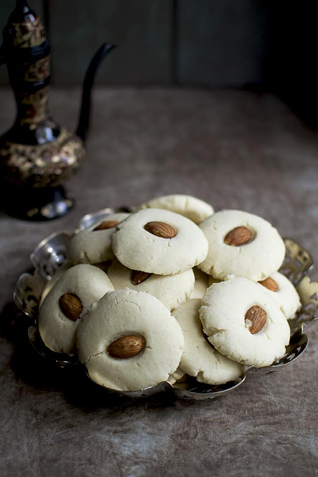 Plate of Buttery Egyptian Cookies