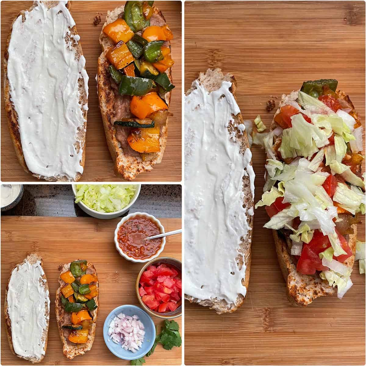 Making of Mexican sandwich - details in the recipe card