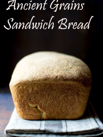 Sandwich bread made with Ancient grains flour
