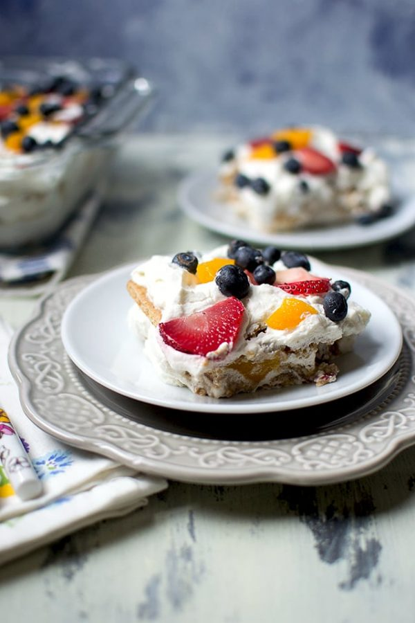 Mango Strawberry Icebox Cake