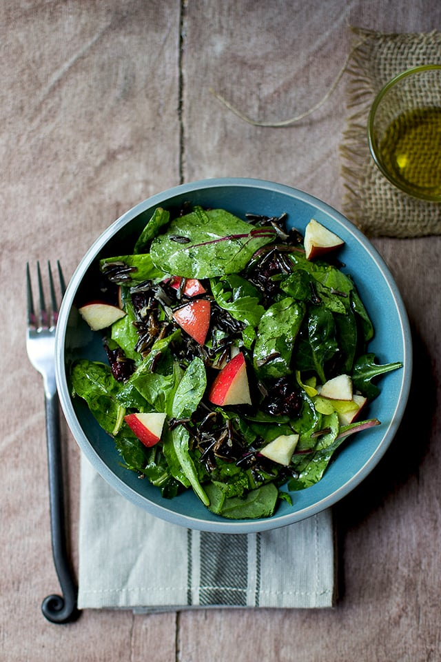 Wild Rice Salad with Baby Greens & Apple
