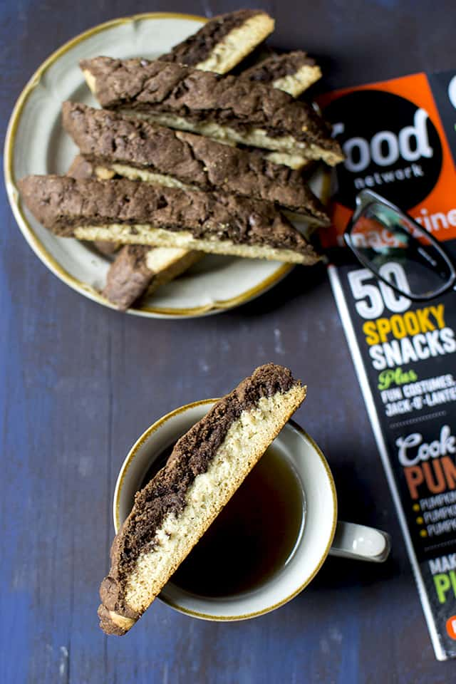 Coffee with Chocolate Vanilla Biscotti