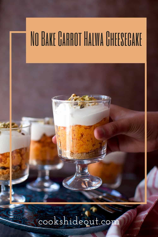 No bake carrot halwa cheesecake