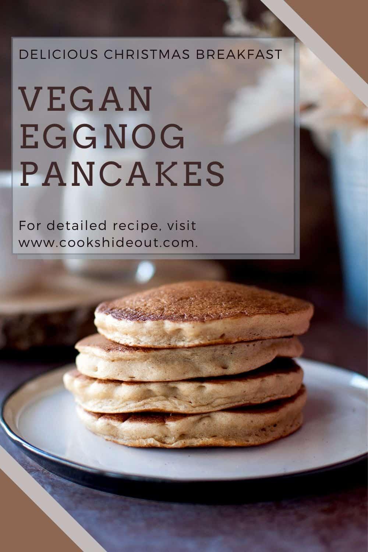 Vegan eggnog pancakes