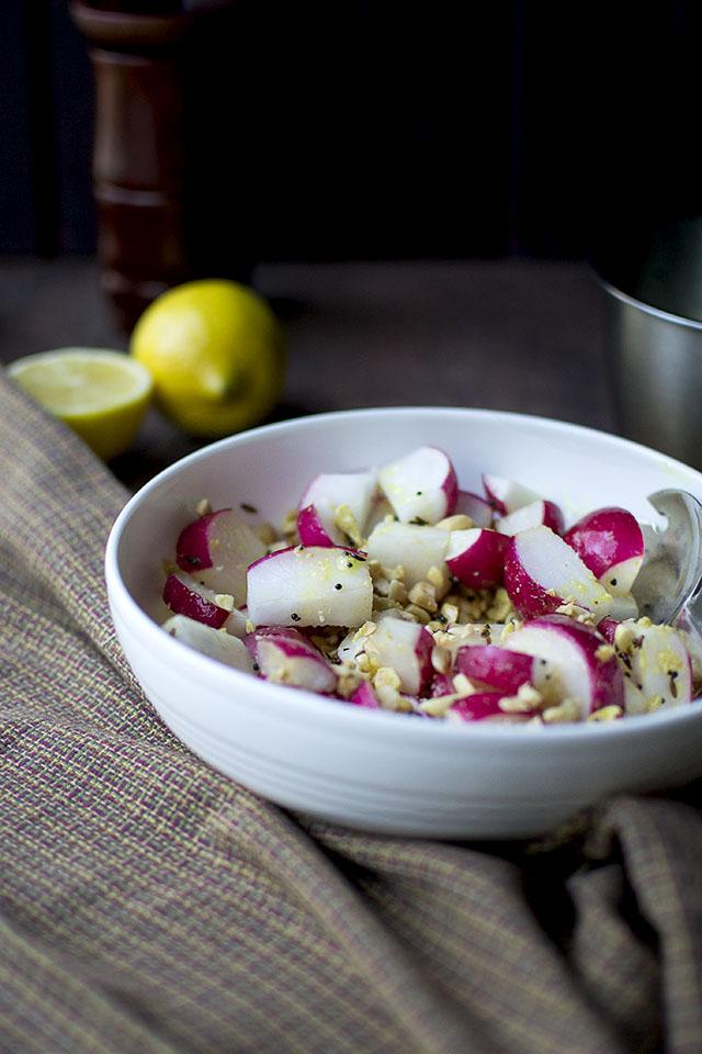 Indian Style Radish and Peanut Saladv