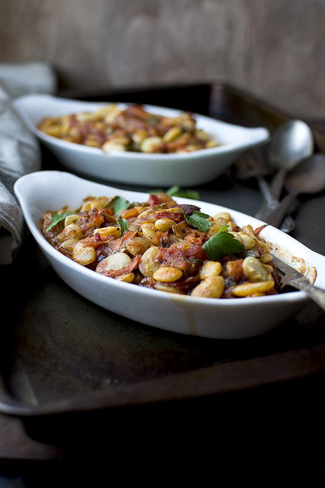 Mediterranean Baked Lima Beans