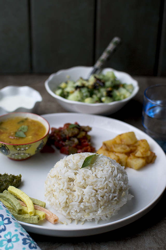 Vegetarian South Indian Menu Idea