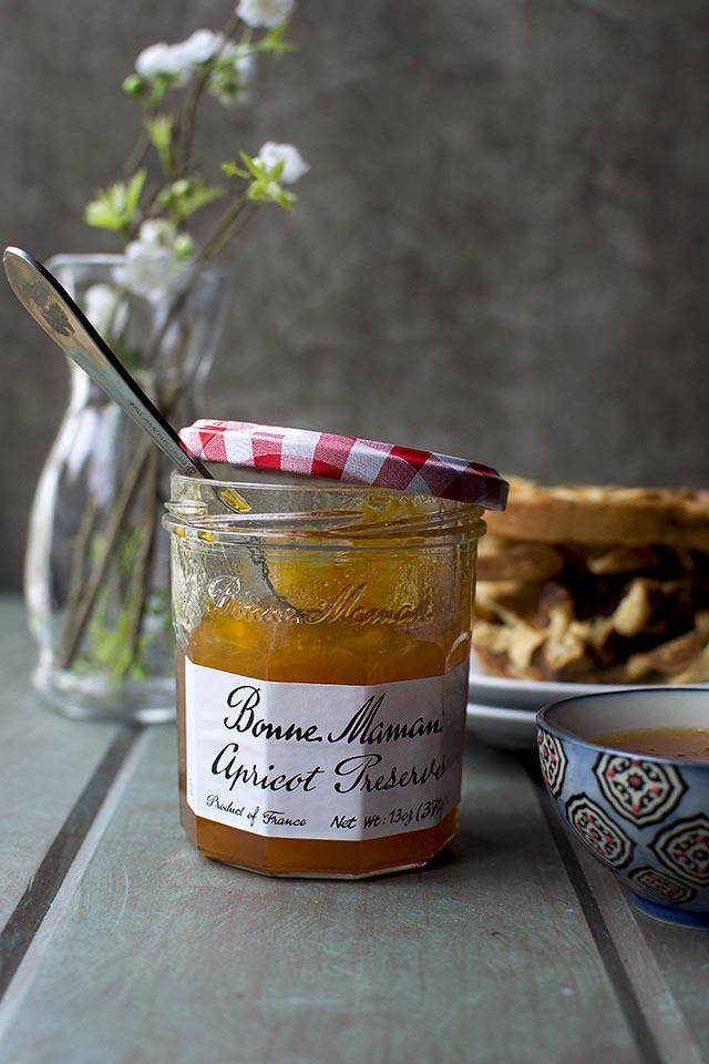 Apricot Preserves & Almond Waffles