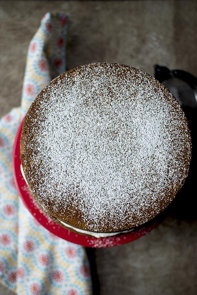 Eggless Victoria Sponge Cake