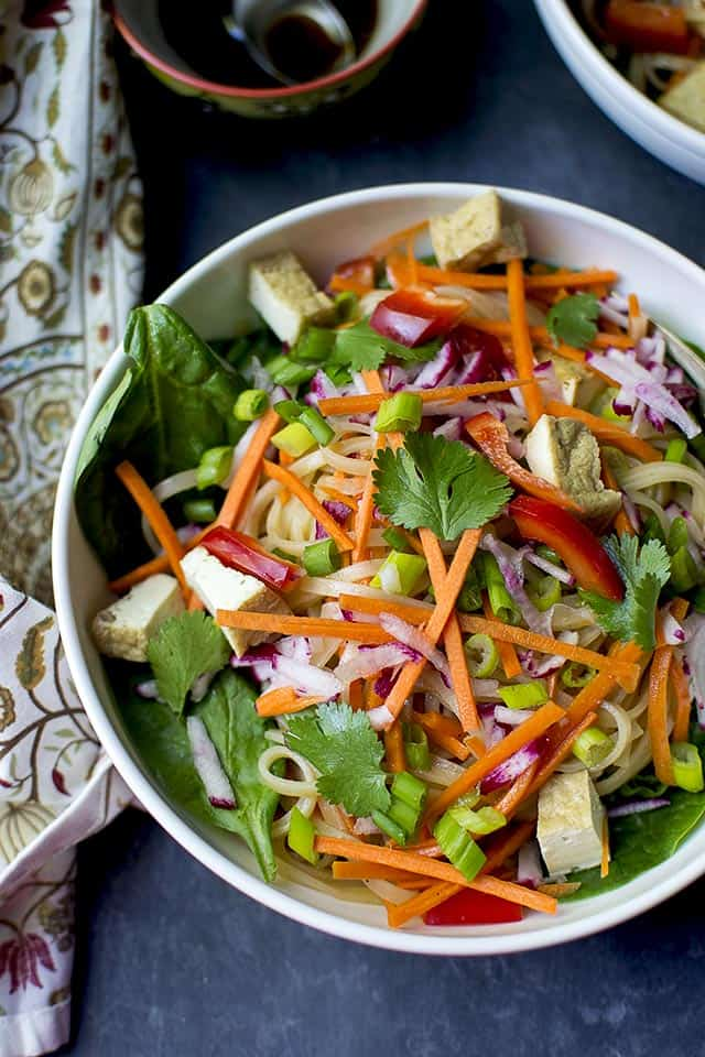 Vegan Pad Thai Noodle salad with Tofu