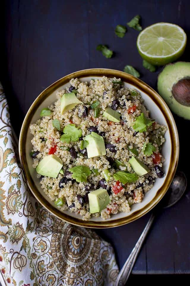 south Western Quinoa Black bean Salad