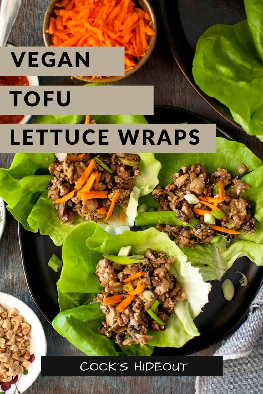 Tofu Lettuce wraps on a tray
