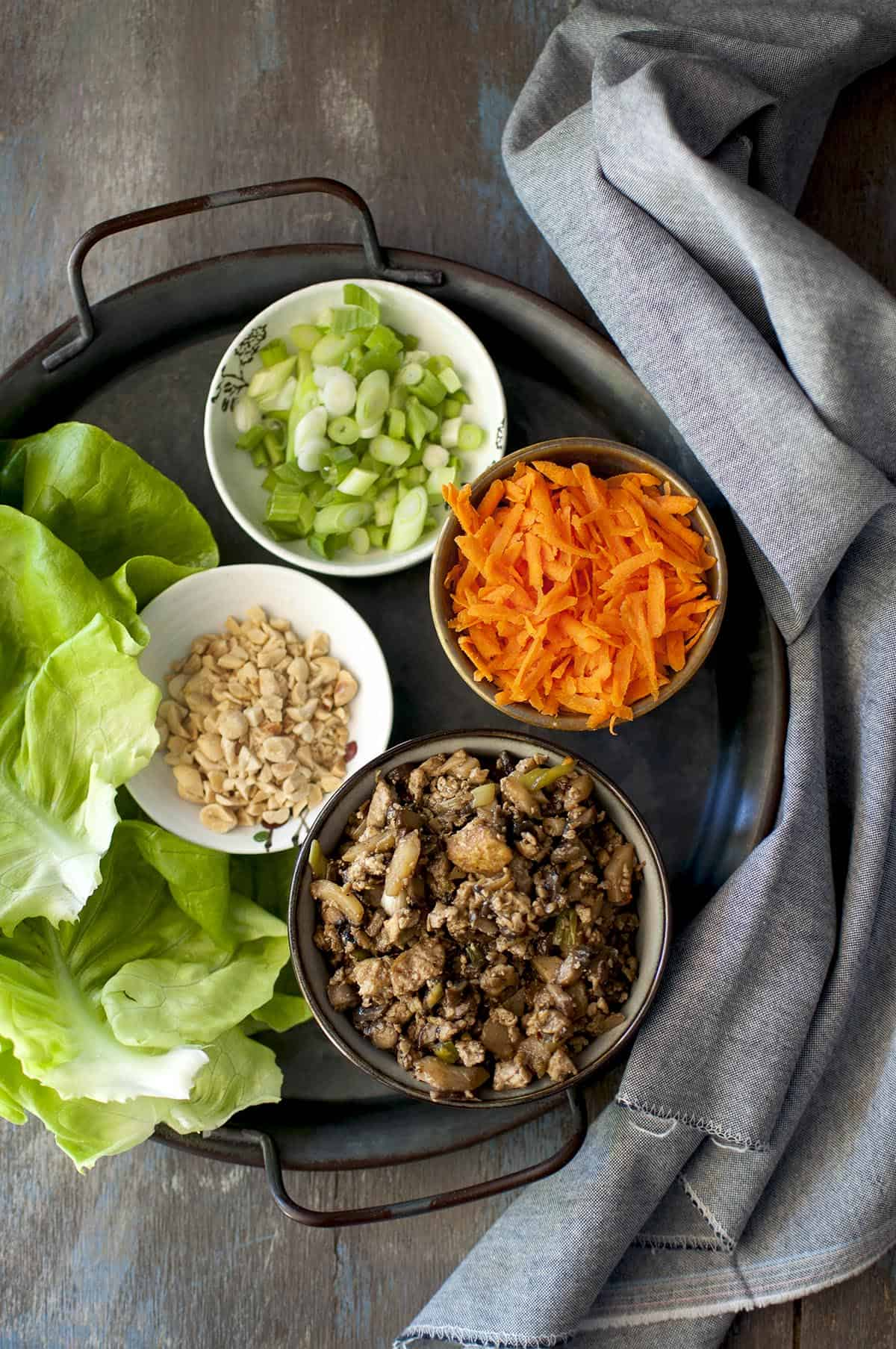 Vegan Lettuce Wraps with Tofu filling