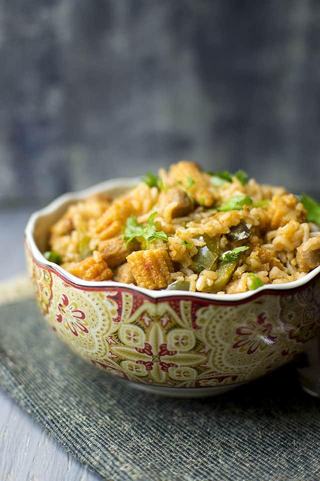 Vegan Babycorn & Pepper Rice