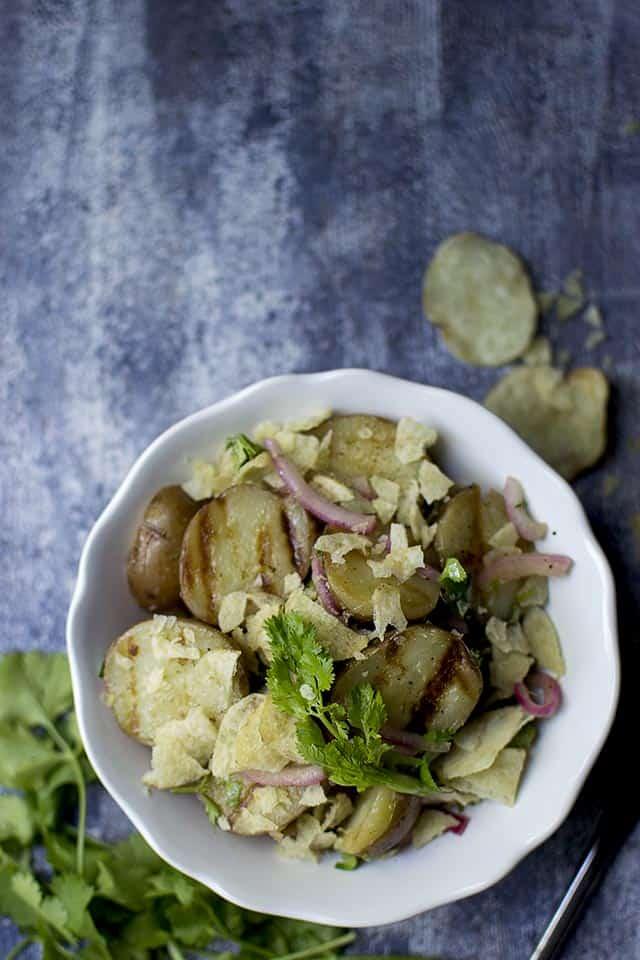 Grilled Potato Salad (Vegan Recipe) - Cook's Hideout