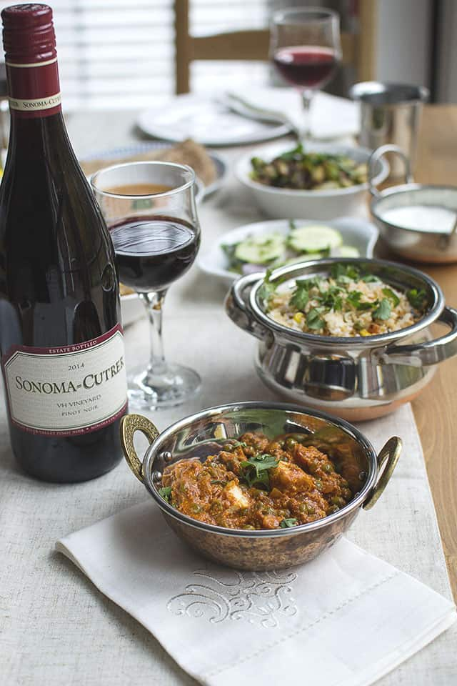 Vegetarian Holiday Dinner with Wine Pairing