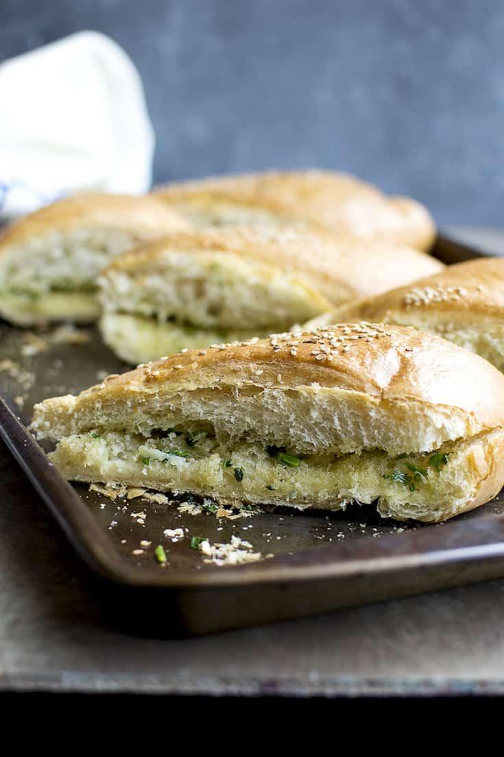 Garlic Bread with Garlic & Herbs