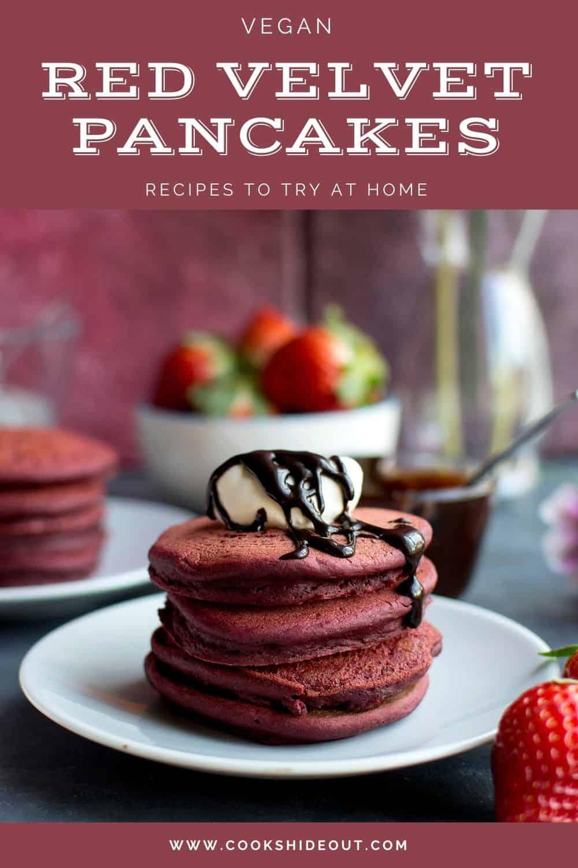 Vegan red velvet pancakes