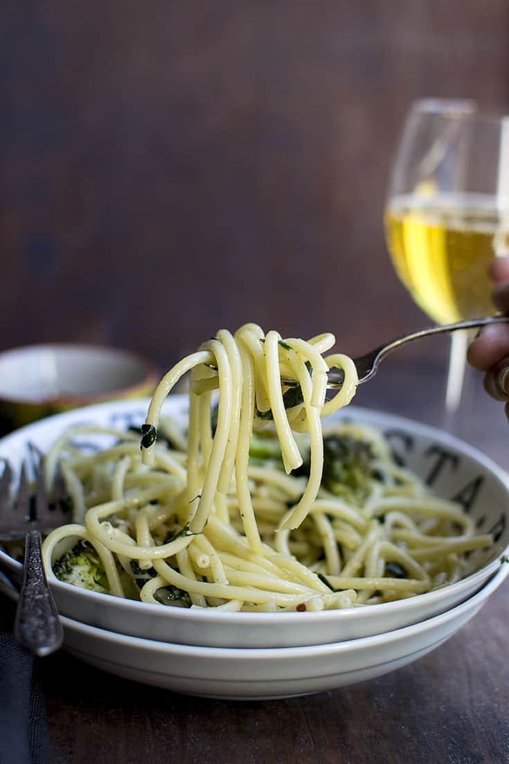 Kale and Broccoli Aglio e Olio