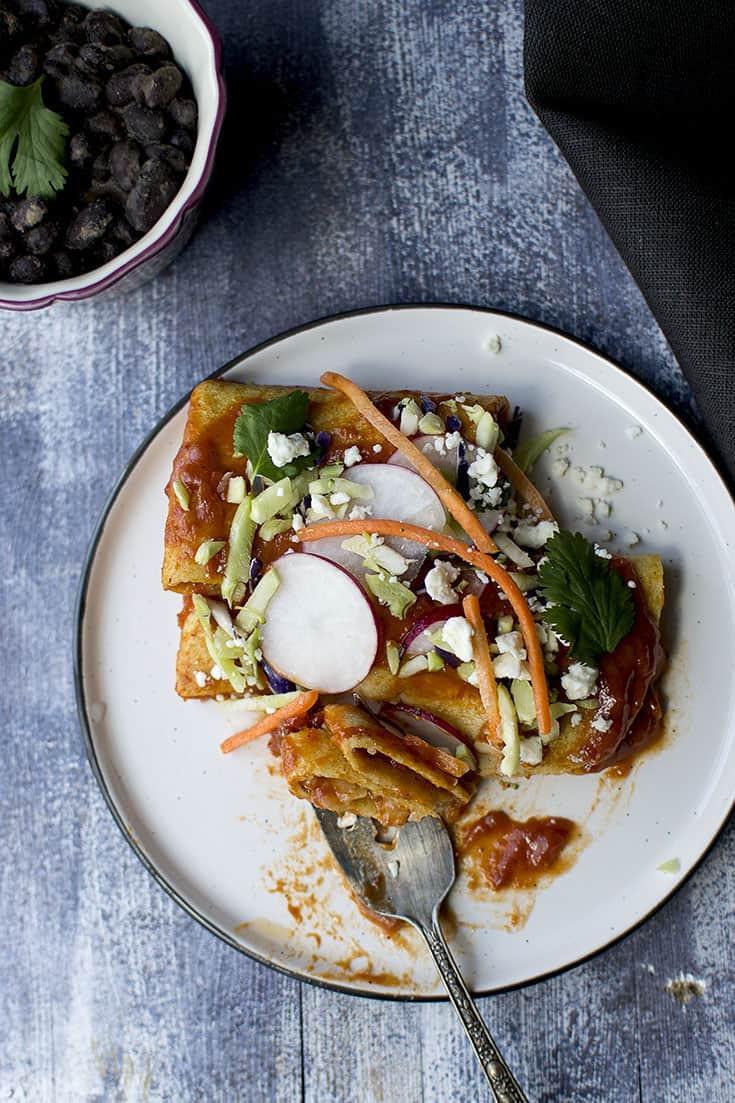 Vegetarian Street Enchilada